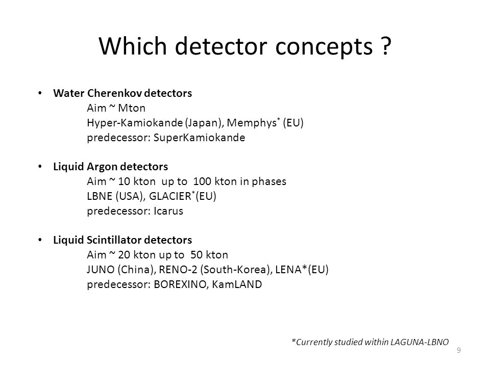 Which detector concepts .