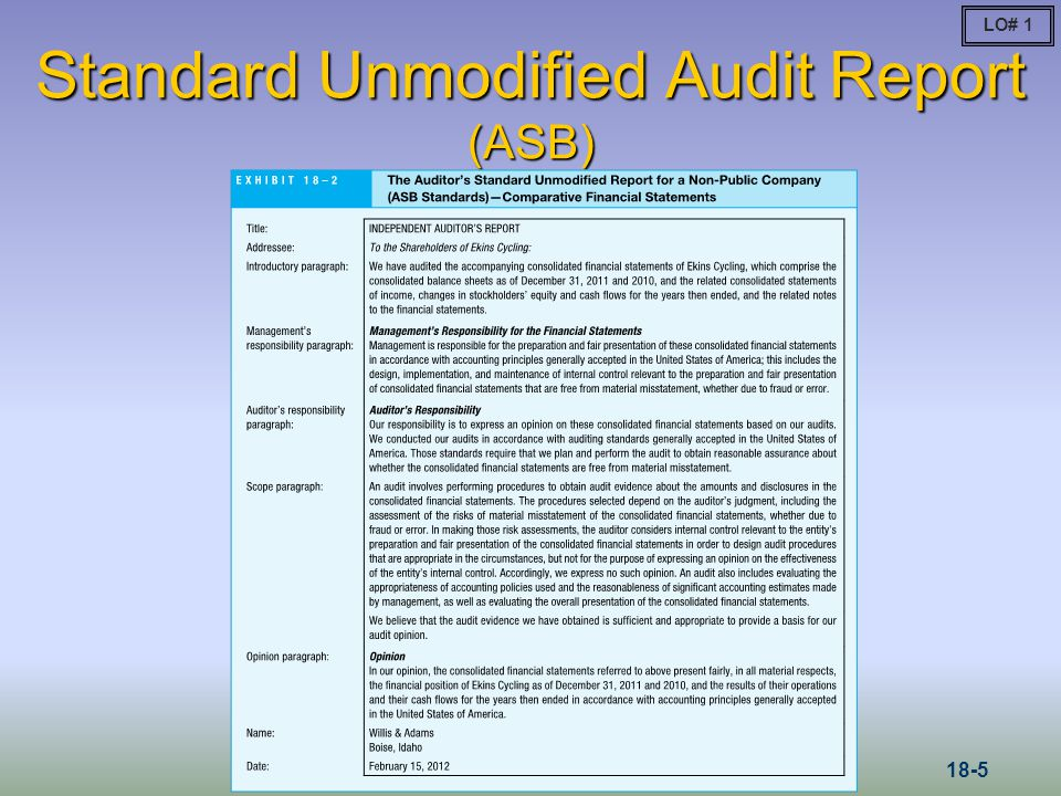 Financial Statements Prepared According to a Special Purpose Framework Regulatory Basis Tax Basis Cash (or Modified Cash) Basis Contractual Basis LO# 8 18-26