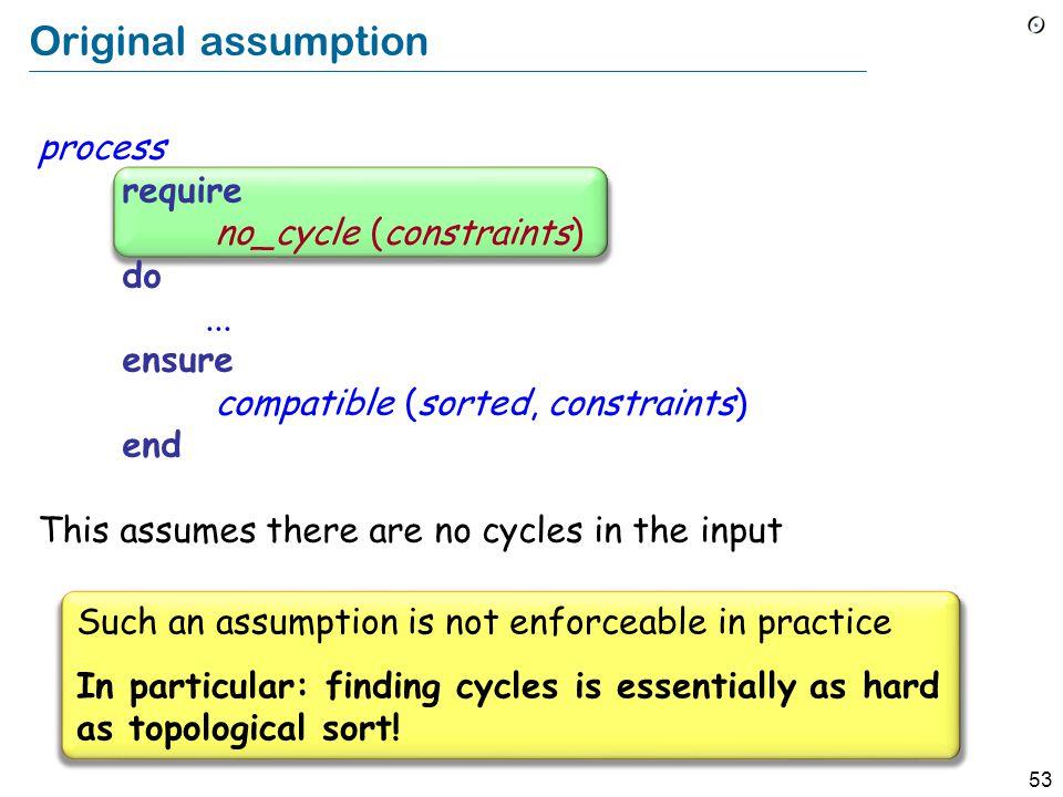 53 Original assumption process require no_cycle (constraints) do...