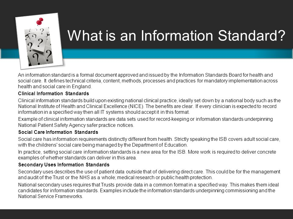 What is an Information Standard.