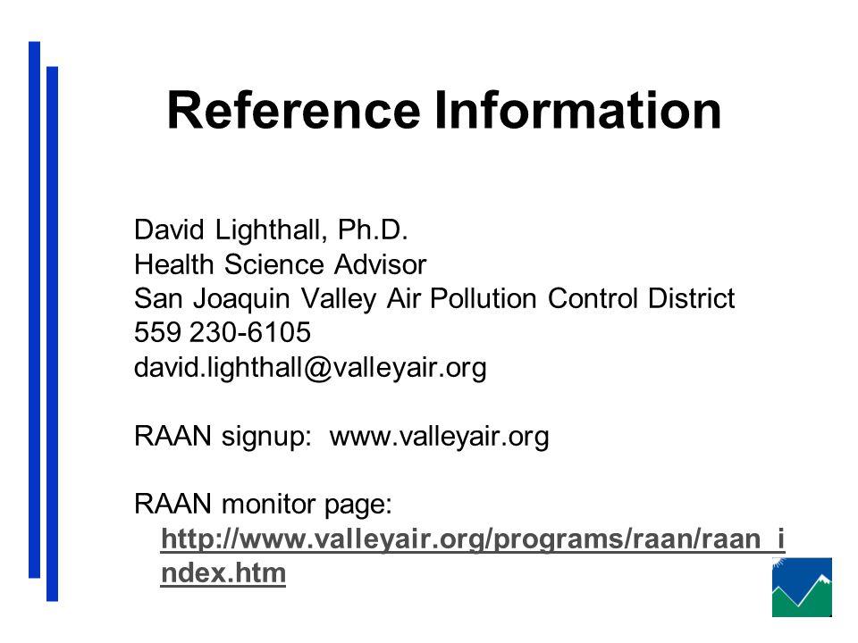 Reference Information David Lighthall, Ph.D.