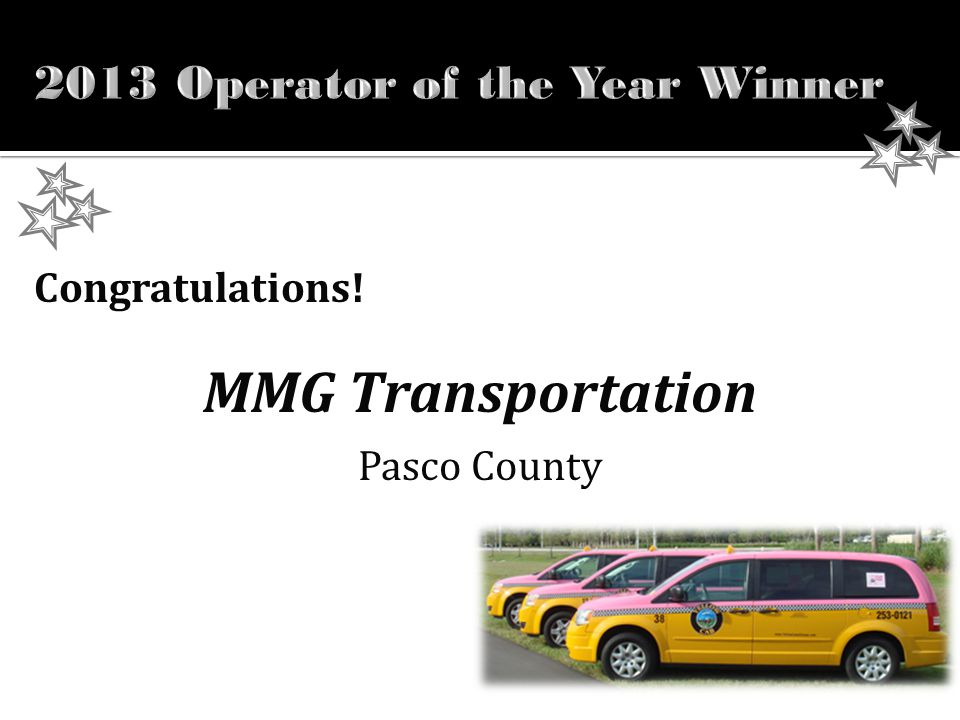 Congratulations! ! MMG Transportation Pasco County
