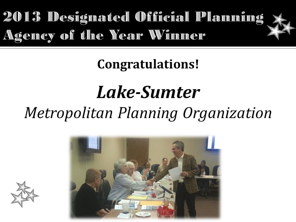 Congratulations! Lake-Sumter Metropolitan Planning Organization