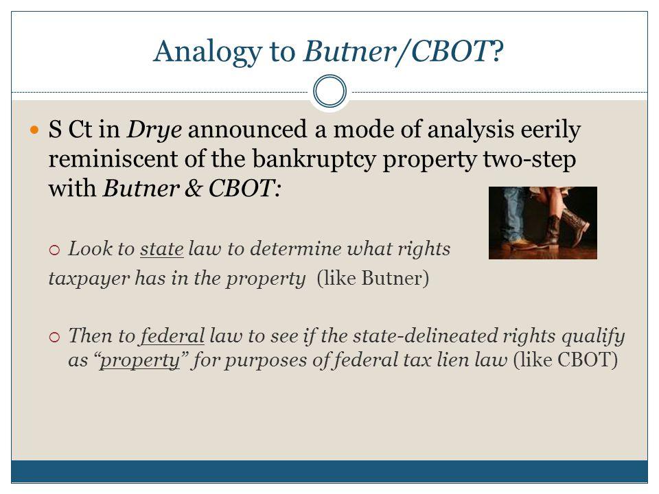 Analogy to Butner/CBOT.