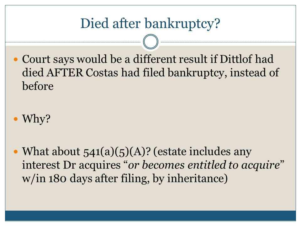 Died after bankruptcy.