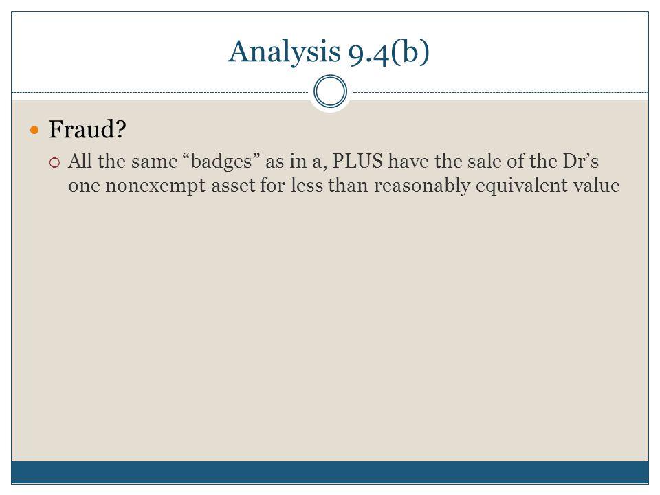 Analysis 9.4(b) Fraud.