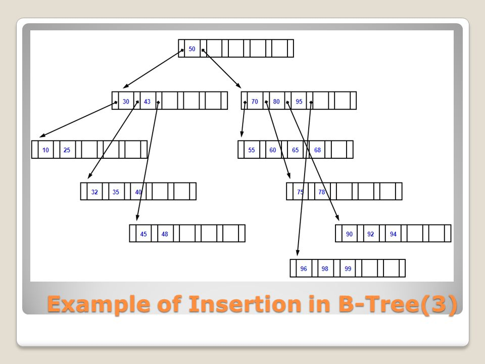 Example of Insertion in B-Tree(3)