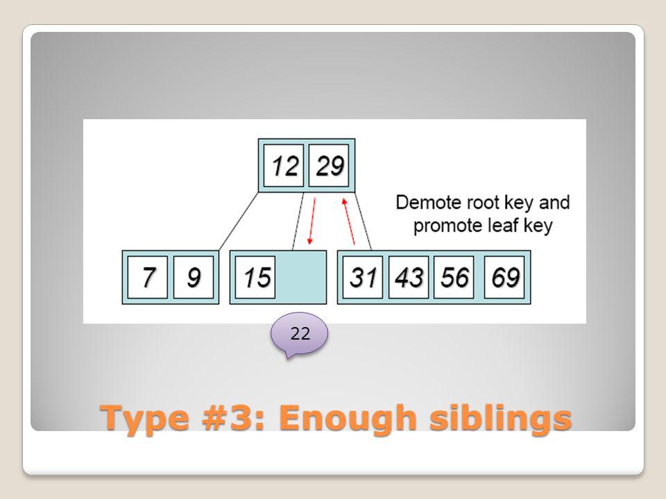 Type #3: Enough siblings 22
