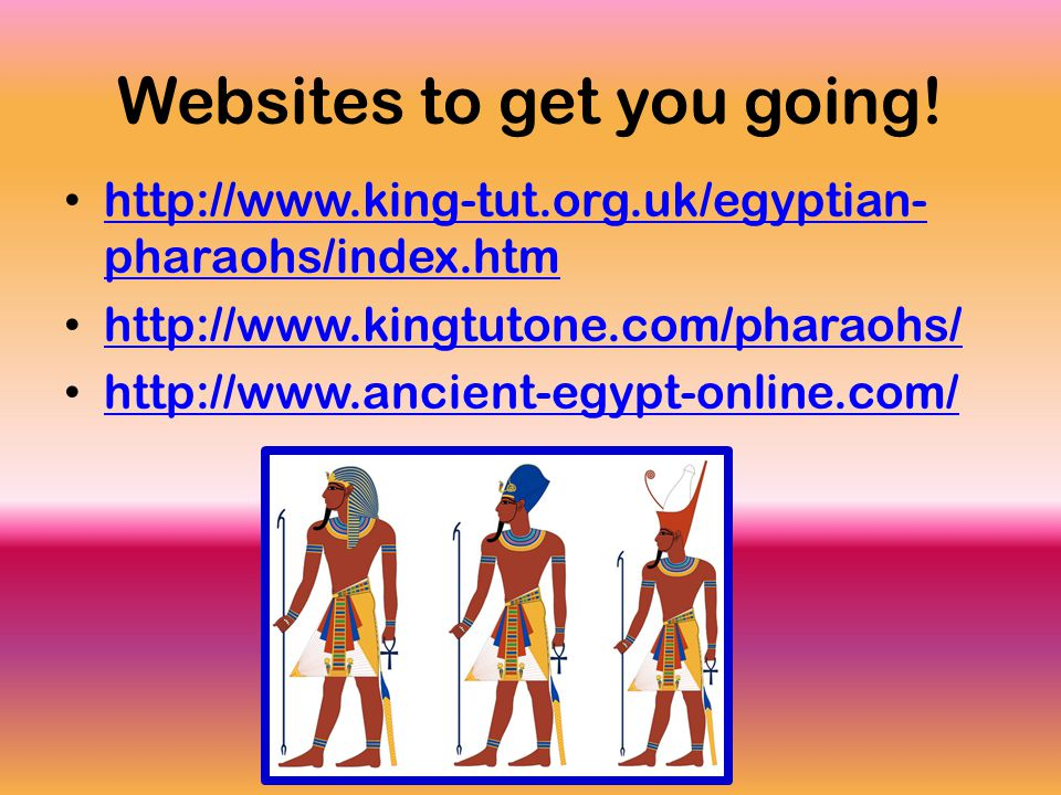 Websites to get you going.