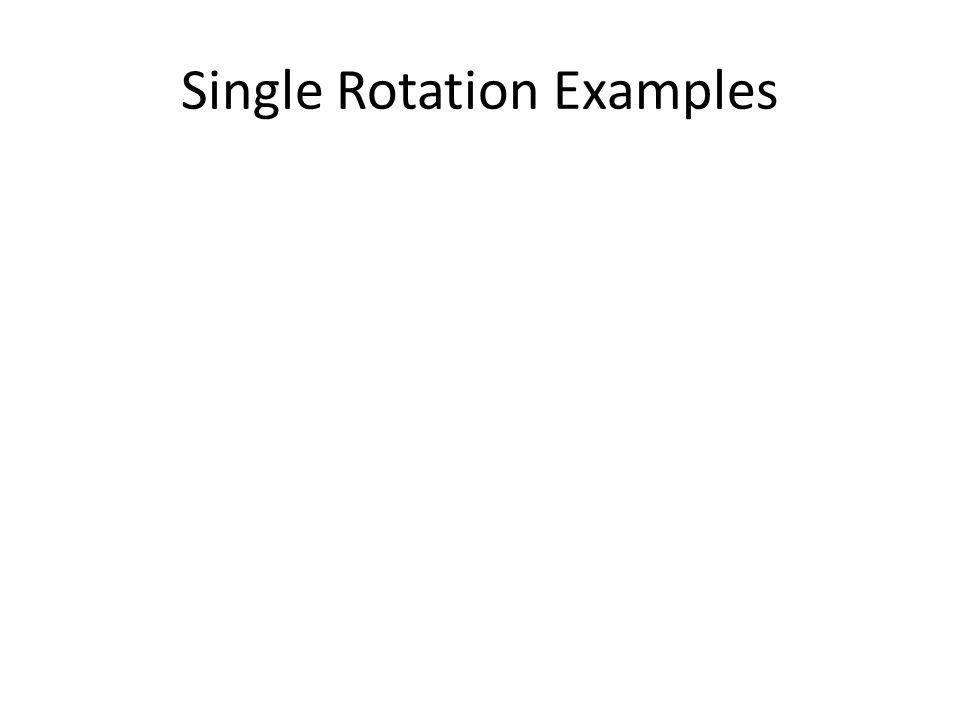 Single Rotation Examples