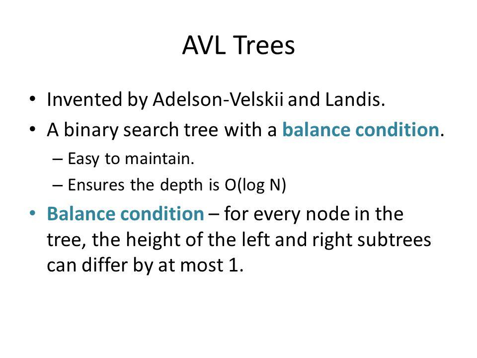 Bad binary tree Requiring balancing at the root is not enough.