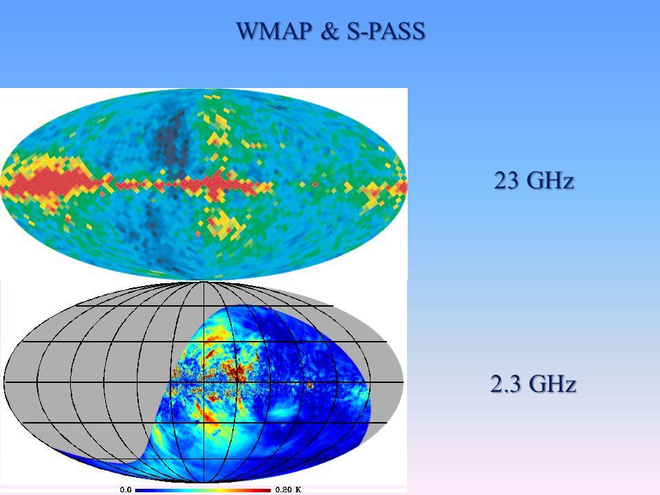 WMAP & S-PASS 23 GHz 2.3 GHz