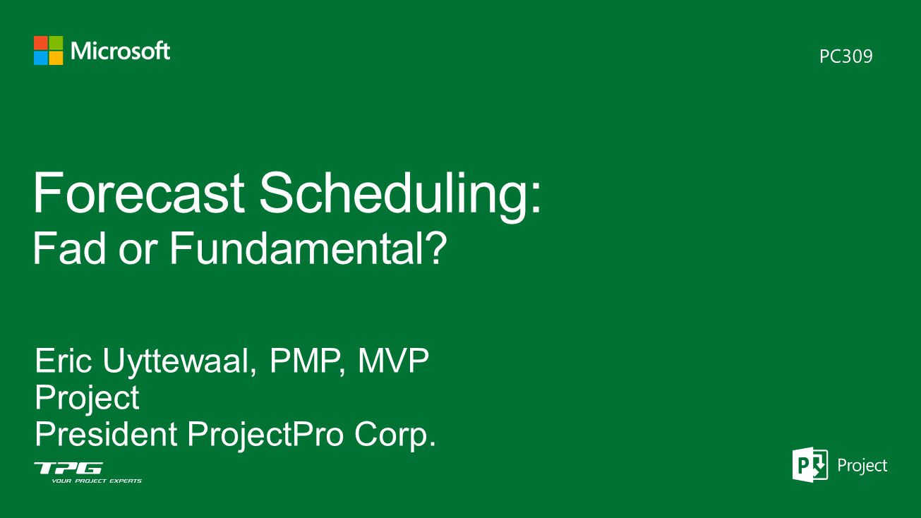 Forecast Scheduling: Fad or Fundamental