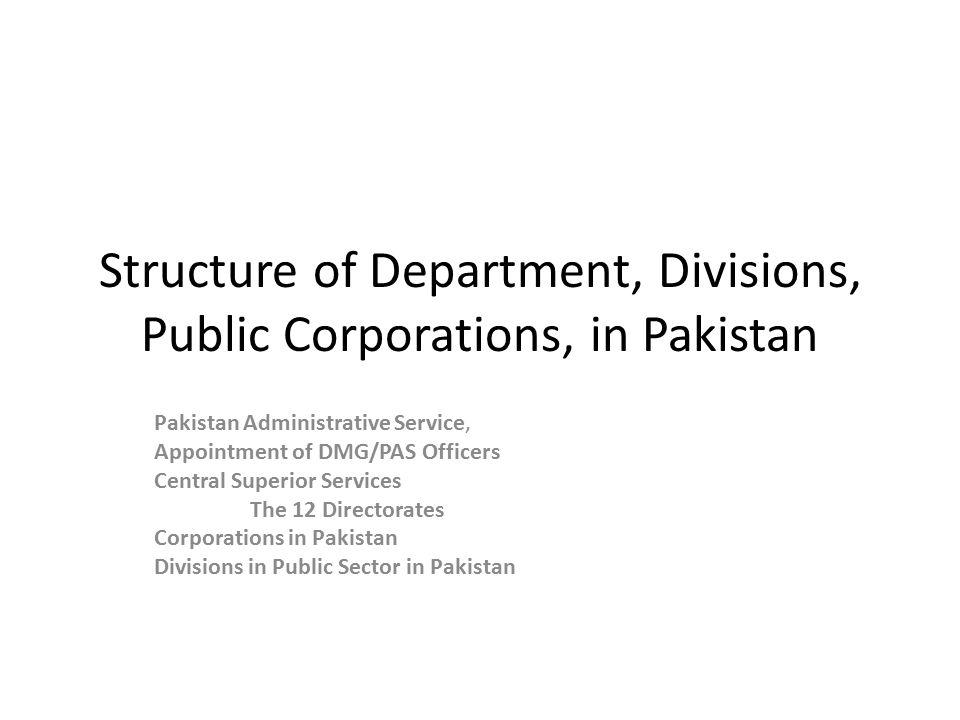 PAS - Pakistan Administrative Service PAS is an elite cadre of the Civil Service of Pakistan