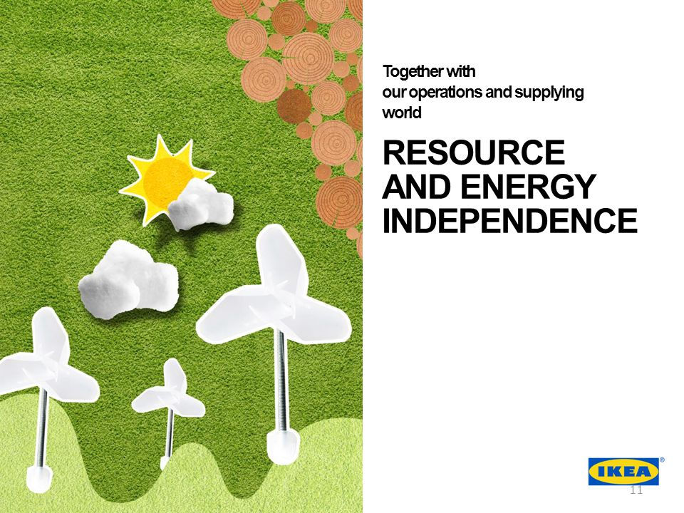 RESOURCE AND ENERGY INDEPENDENCE Together with our operations and supplying world 11