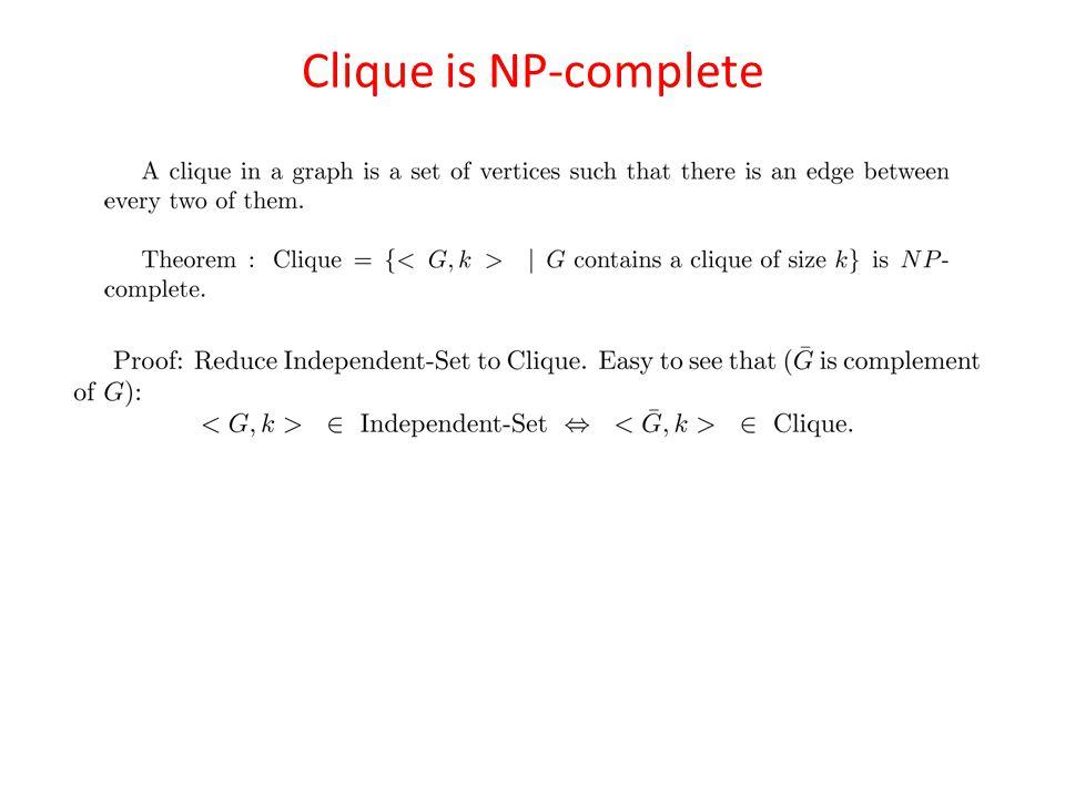 Clique is NP-complete