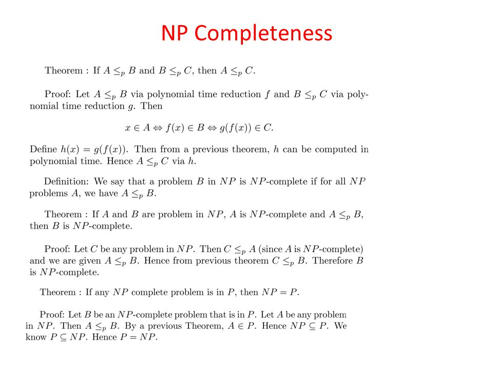 NP Completeness