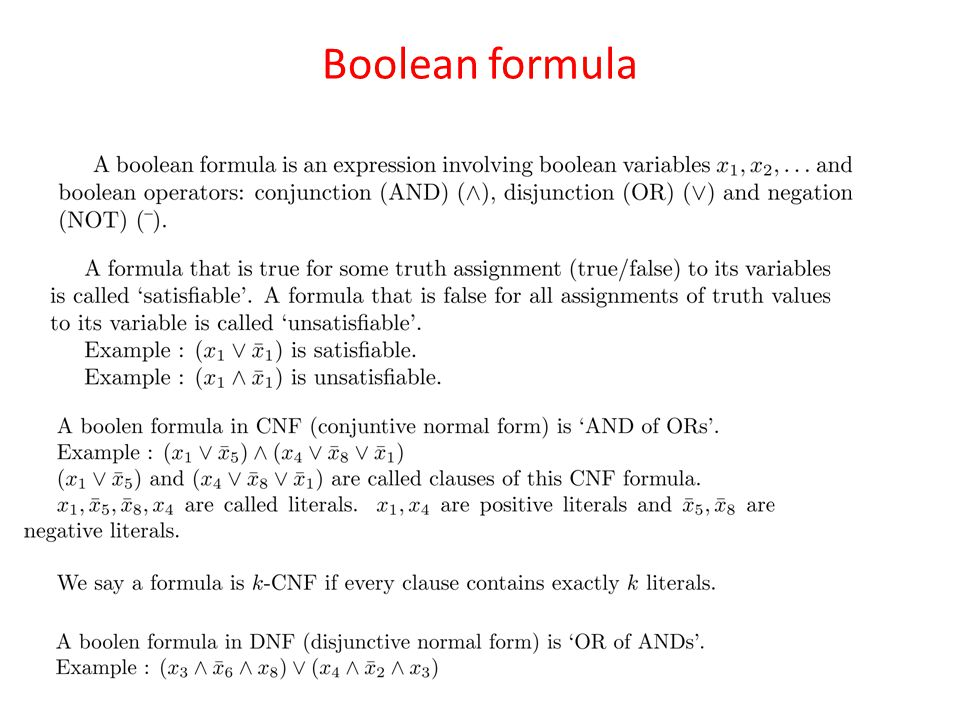 Boolean formula