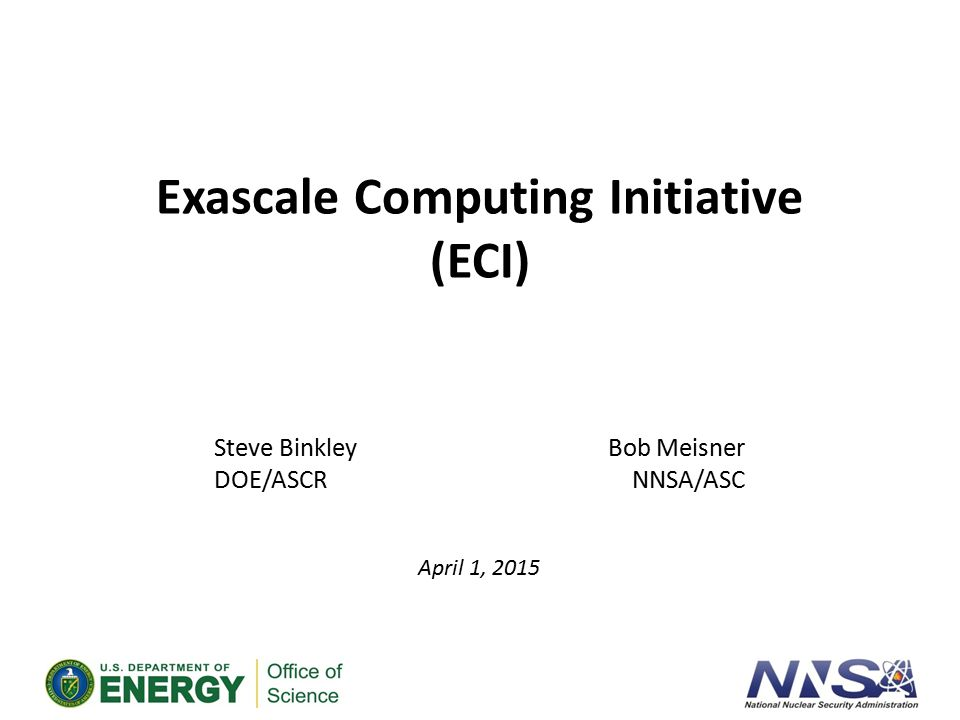 Exascale Computing We Need to Reinvent Computing Traditional path of 2x performance improvement every 18 months has ended For decades, Moore s Law plus Dennard scaling provided more, faster transistors in each new process technology This is no longer true – we have hit a power wall.