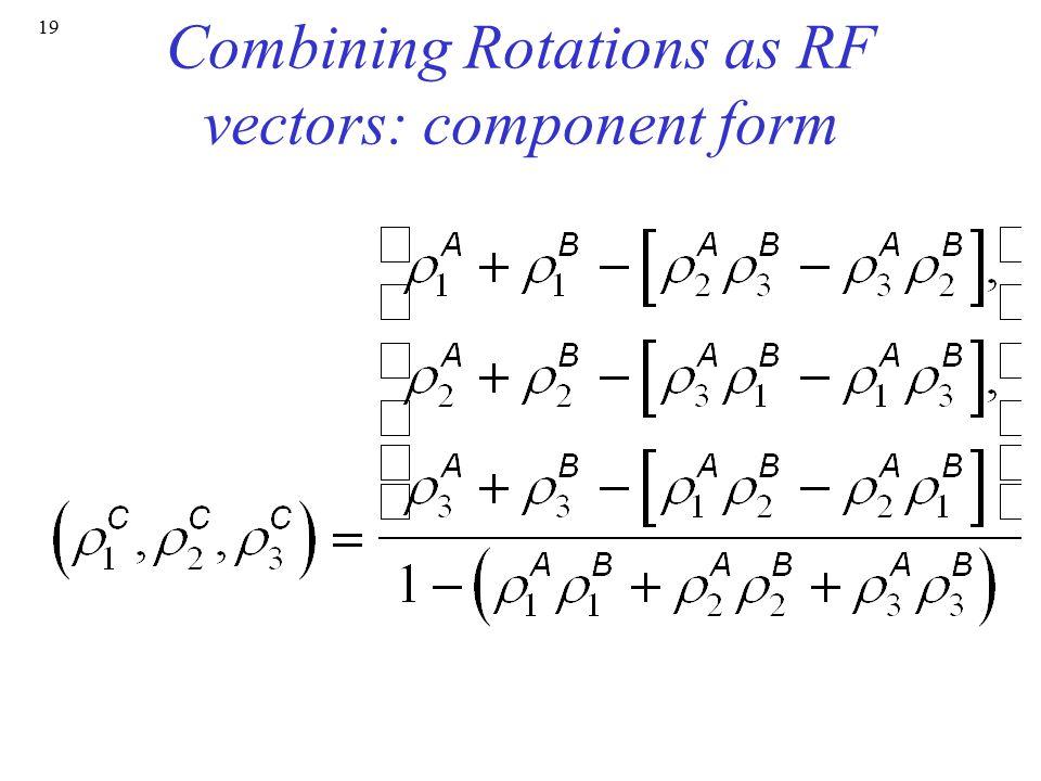 19 Combining Rotations as RF vectors: component form