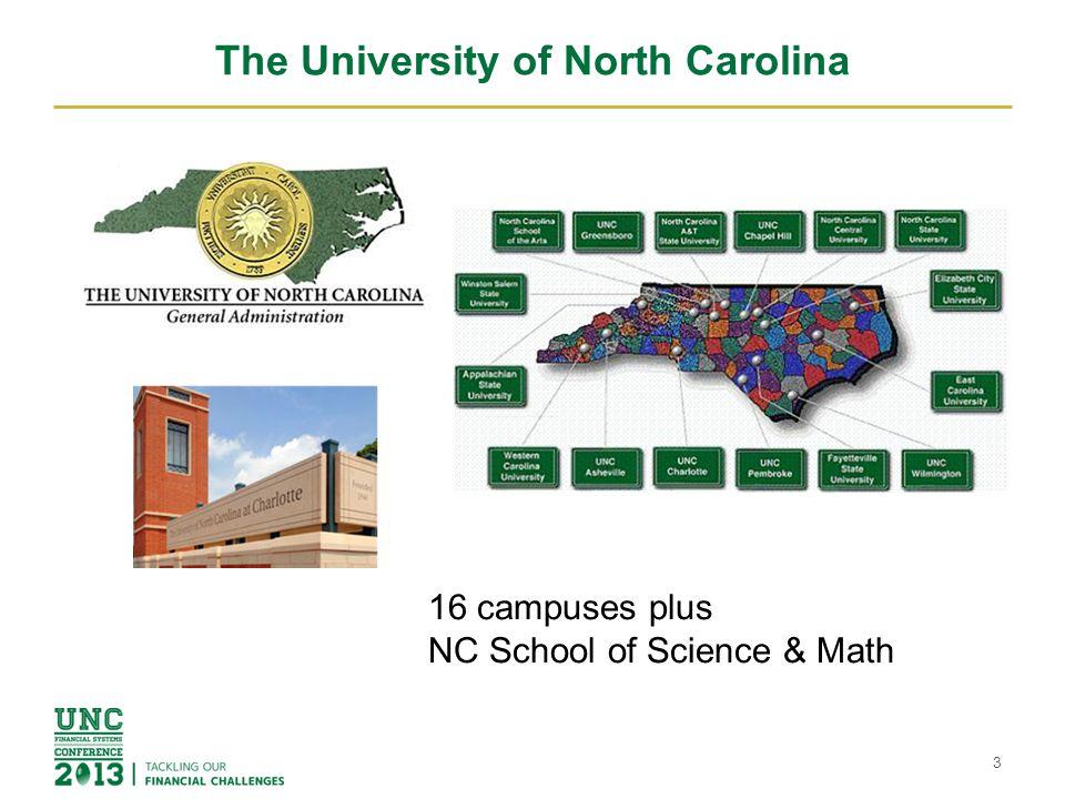 The University of North Carolina The University of North Carolina and its campuses are considered state agencies.