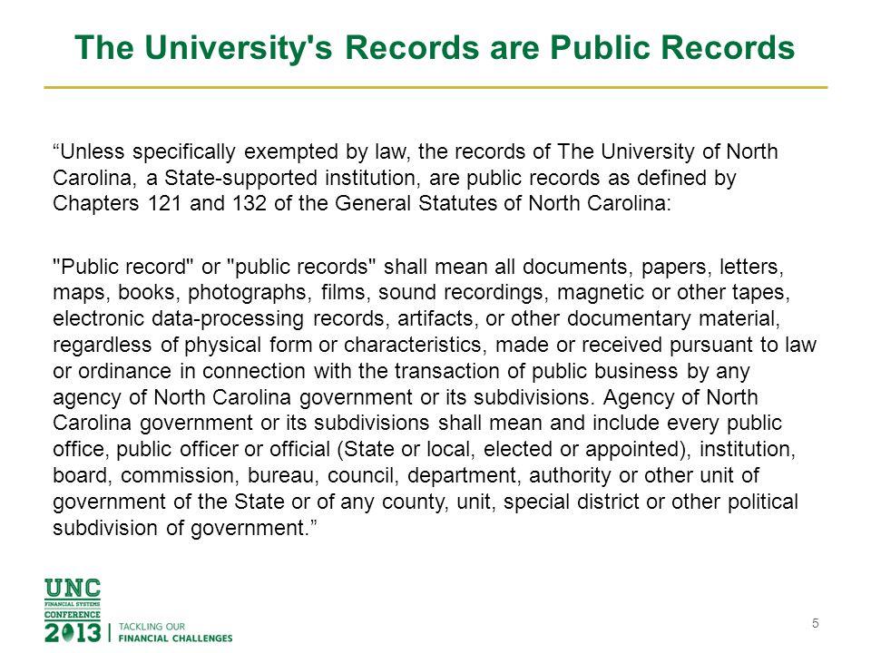 UNC Charlotte Records Retention Schedule Update Phil Maher/Madeleine Perez UNC Charlotte