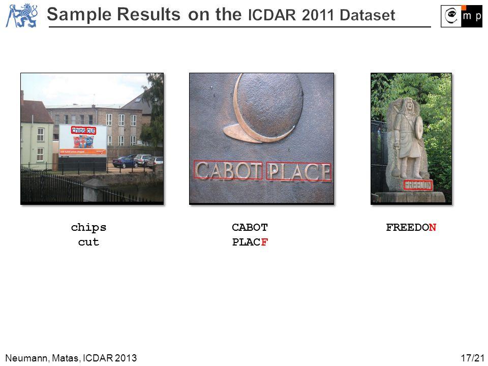 Neumann, Matas, ICDAR 2013 chips cut CABOT PLACF FREEDON 17/21
