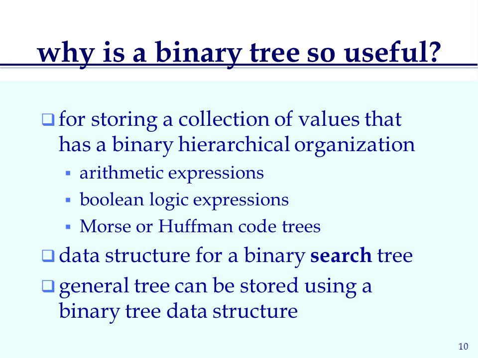 10 why is a binary tree so useful.