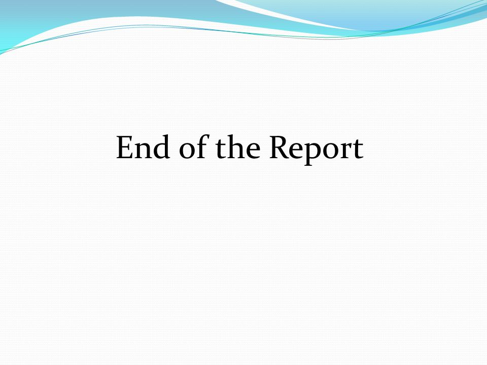 End of the Report