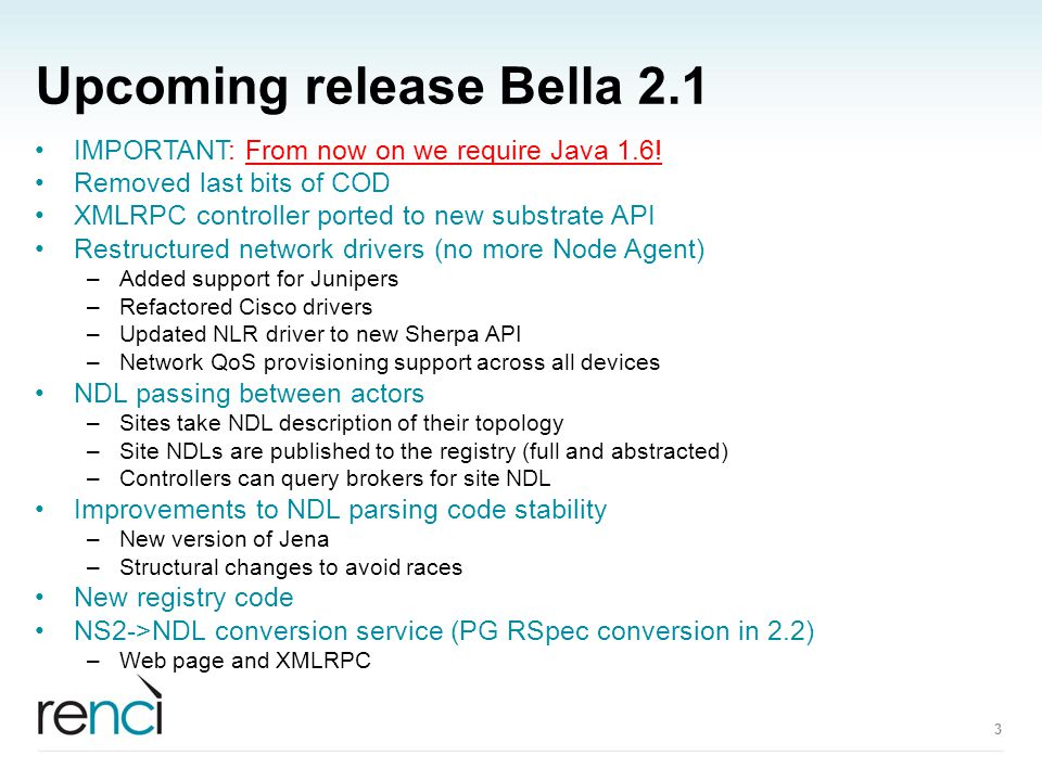 Upcoming release Bella 2.1 IMPORTANT: From now on we require Java 1.6.