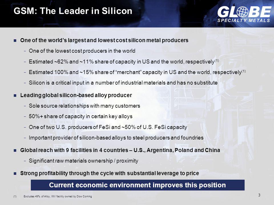 4 Global Production Source:Company information, CRU, 2011.