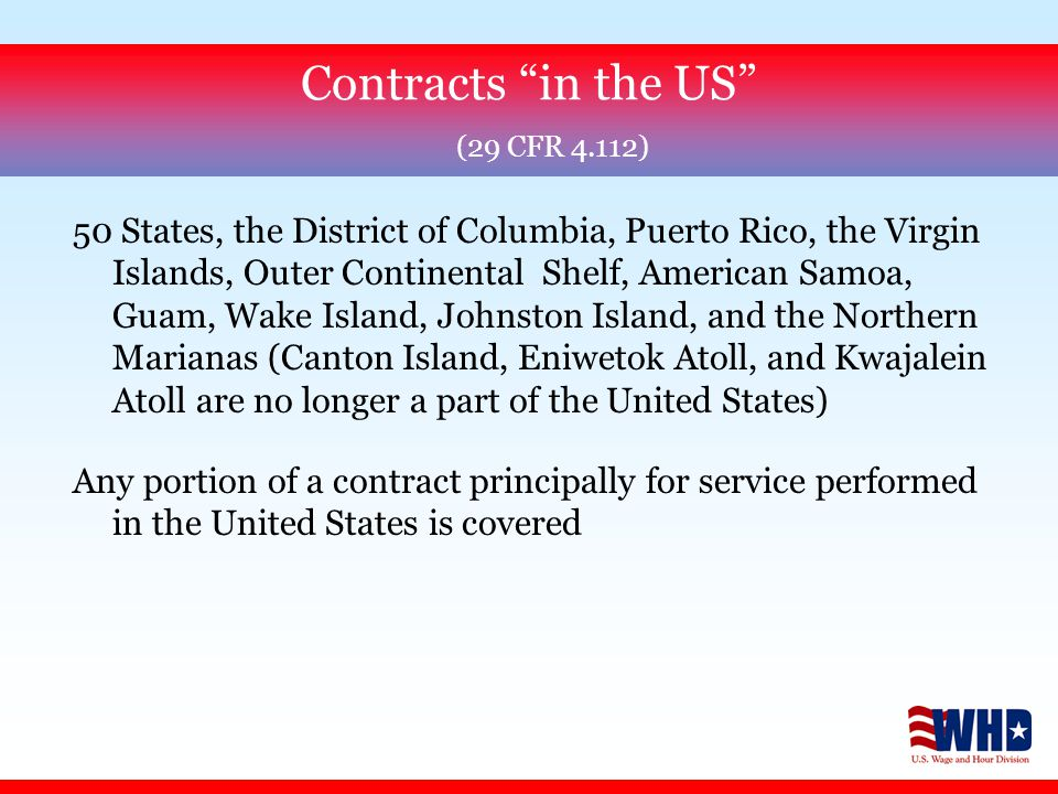 Section 8(b) of SCA defines service employee as any person engaged in the performance of a covered contract except those that qualify for exemption as bona fide executive, administrative or professional employees under the FLSA (29 CFR Part 541) (See 29 CFR 4.113) Employee coverage does not depend upon contractual relationship (See 29 CFR 4.155) Use of service employees (29 CFR 4.113)