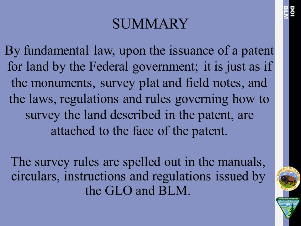 Standard of Evidence  Interior Board of Land Appeals (IBLA) has altered the evidentiary standard definition for proof of a corner point.