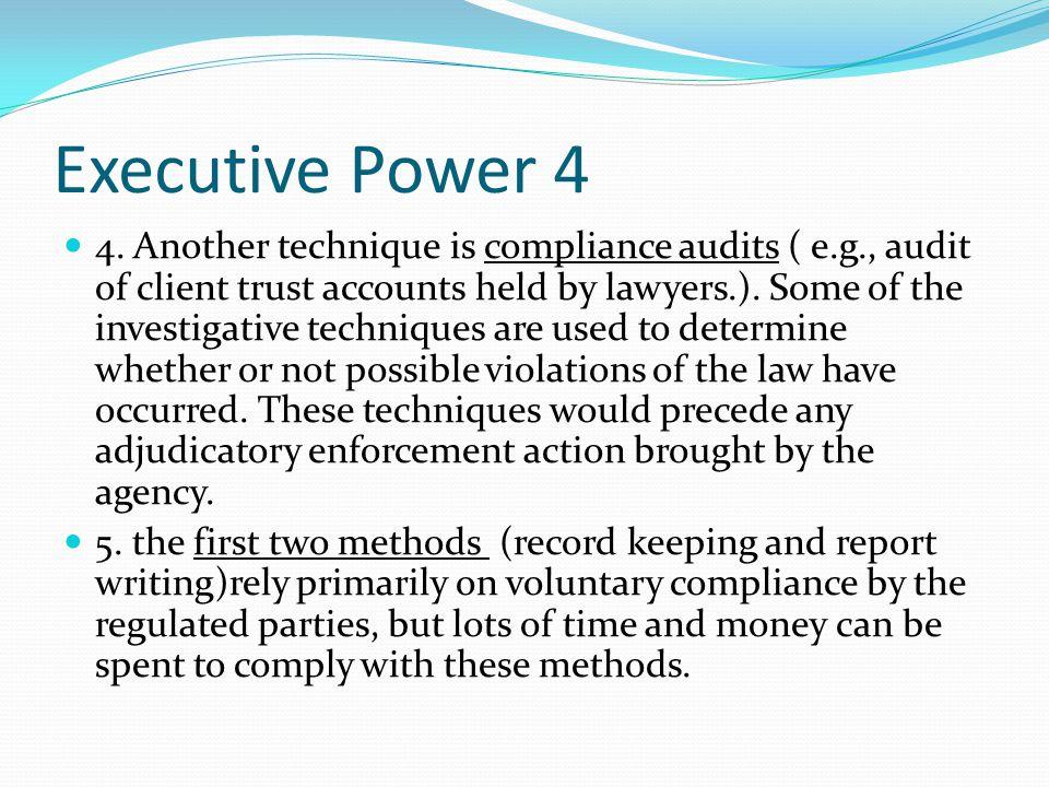 Executive Power 4 4.