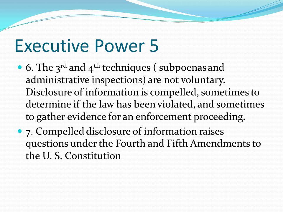 Executive Power 5 6.
