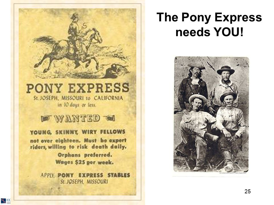 © 2012 Skip Reedy 25 The Pony Express needs YOU!