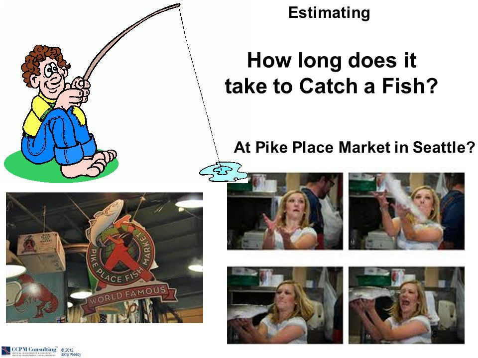 © 2012 Skip Reedy How long does it take to Catch a Fish? 8 At Pike Place Market in Seattle? Estimating