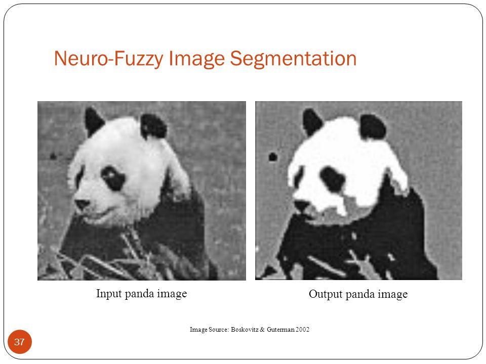Neuro-Fuzzy Image Segmentation 37 Image Source: Boskovitz & Guterman 2002 Input panda image Output panda image