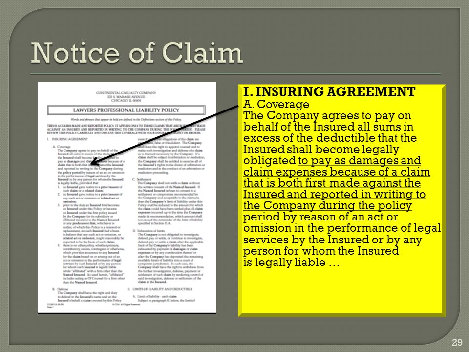 I.INSURING AGREEMENT A.
