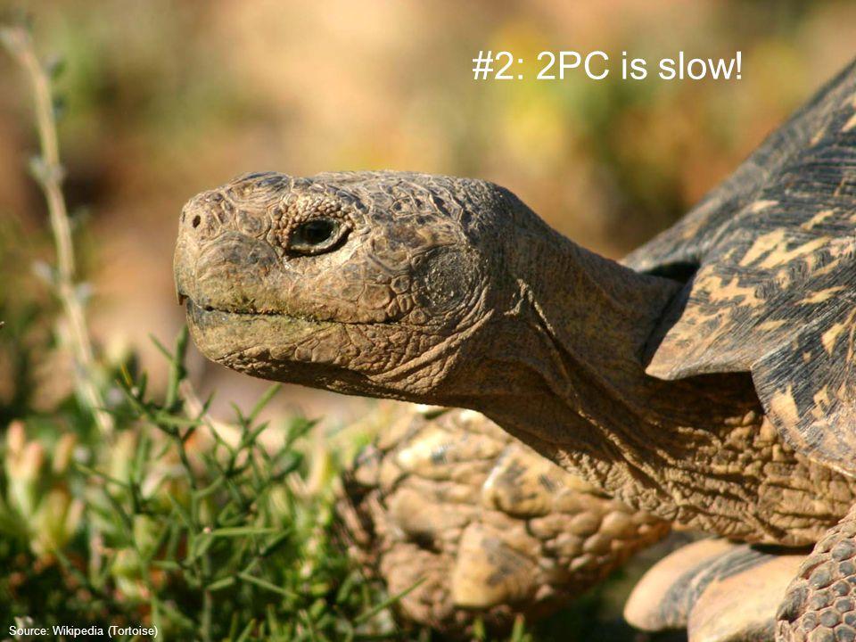 Source: Wikipedia (Tortoise) #2: 2PC is slow!