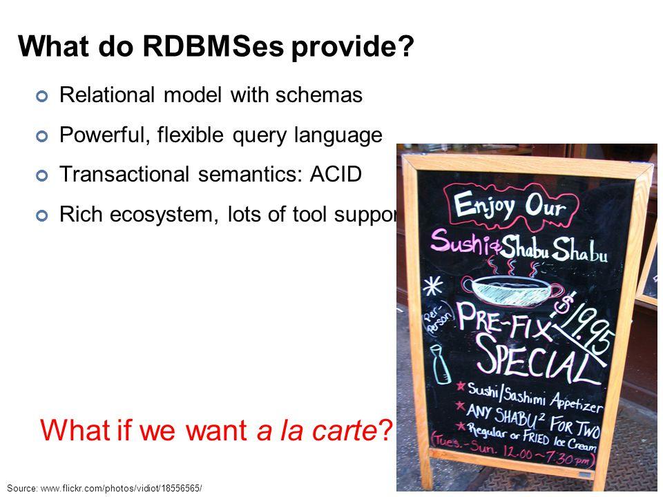 What do RDBMSes provide.