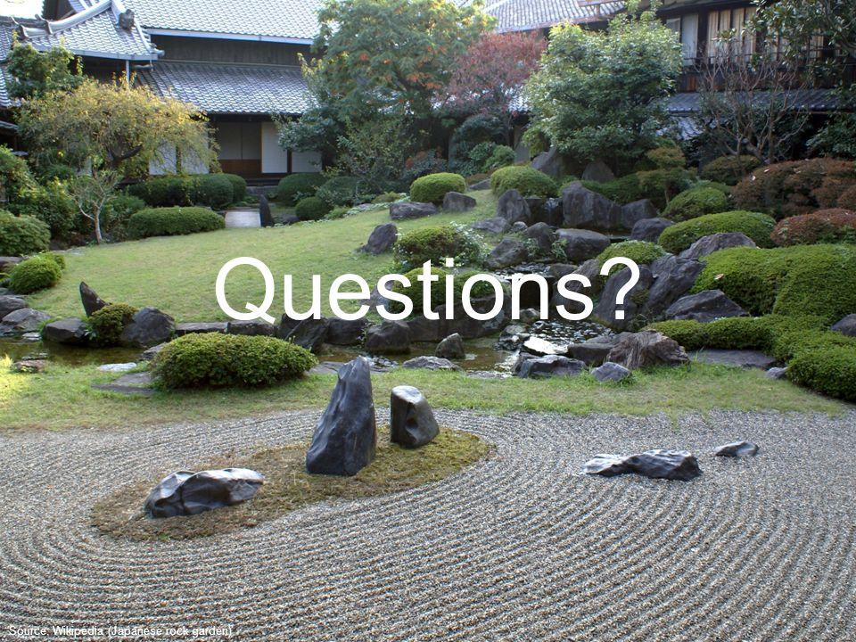 Source: Wikipedia (Japanese rock garden) Questions