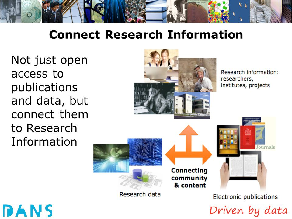 Connect Research Information Not just open access to publications and data, but connect them to Research Information