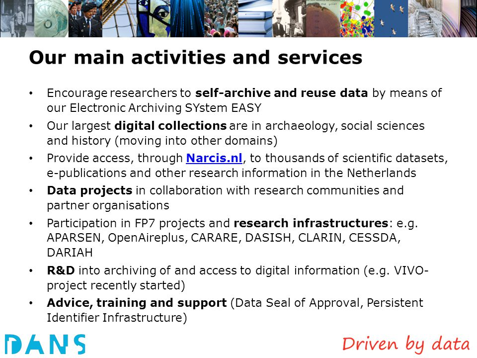 Research Data ResearchersReport Organizations involved: Funder and research institute Topics linking to related information Aggregation: the enhanced publication Najla already gave a preview of this!