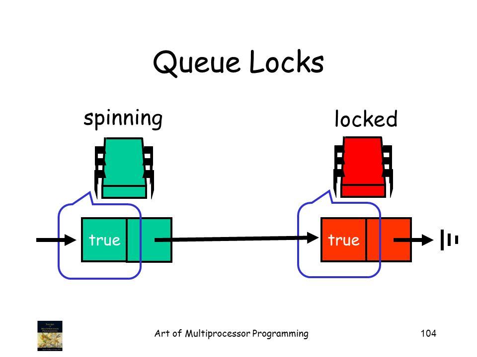 Art of Multiprocessor Programming104 Queue Locks locked true spinning