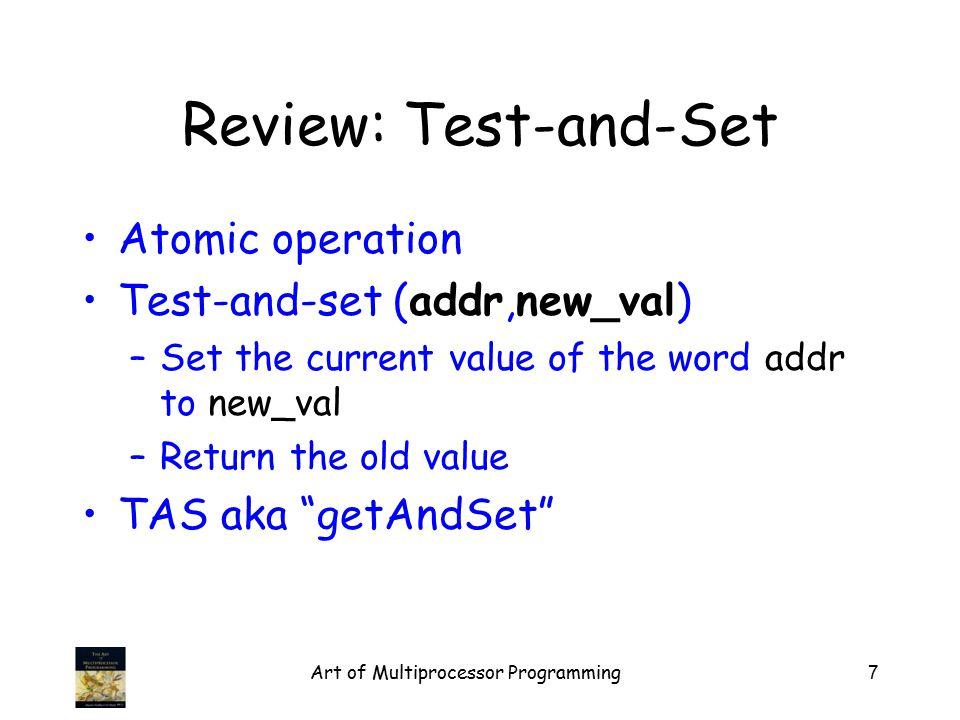 Art of Multiprocessor Programming38 Graph TAS lock TTAS lock Ideal time threads