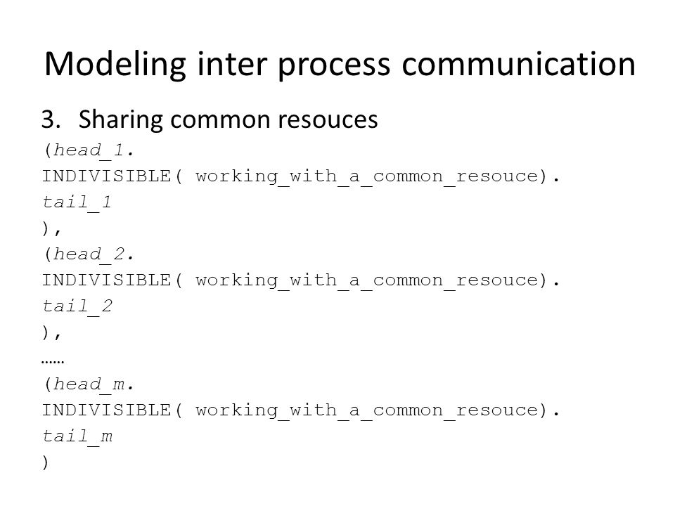 Modeling inter process communication 3.Sharing common resouces (head_1.