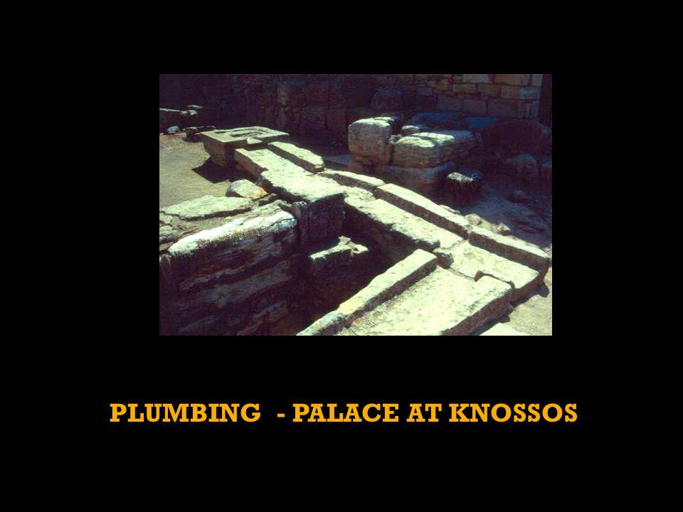PLUMBING - PALACE AT KNOSSOS