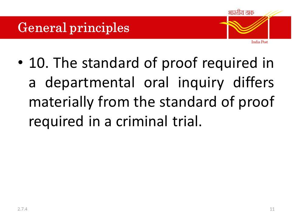 General principles 10.