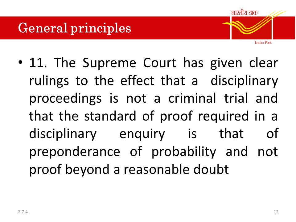 General principles 11.